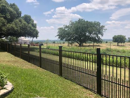 custom designed wrought iron fence austin