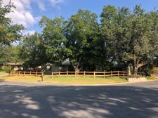 residential split rail wood fence austin