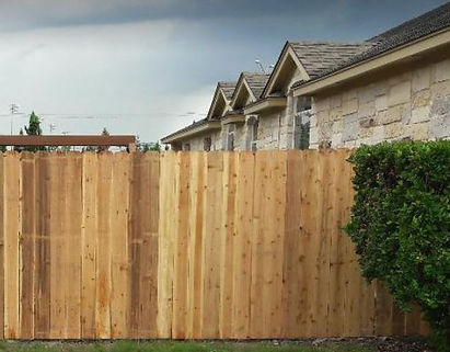 backyard wooden residential fence