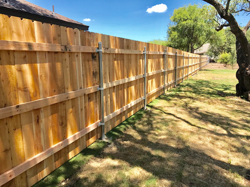 residential wood fence designs
