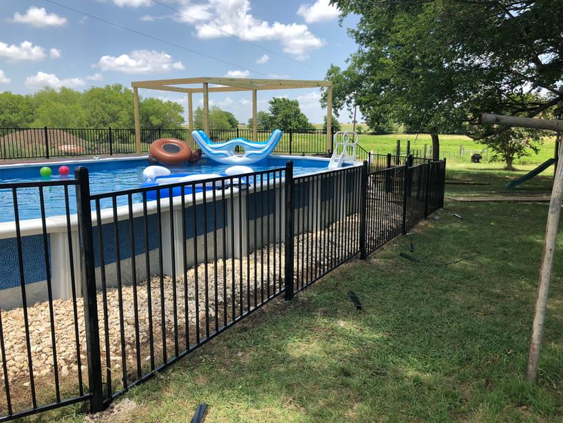 iron pool fence installation austin