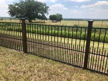 wrought iron fence panel design