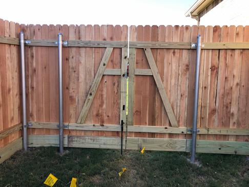 wood privacy gate design austin tx