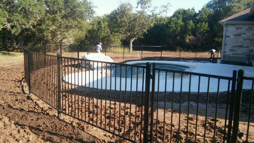 iron fence and gate for new residential construction