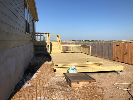 custom residential wood deck and patio.J