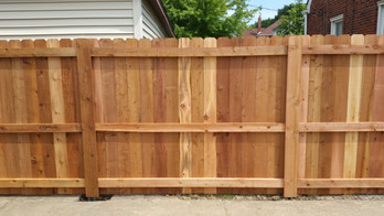 natural wood fence for backyard residential austin tx