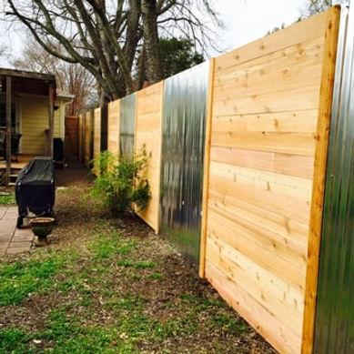 custom designed horizontal wood panel fe