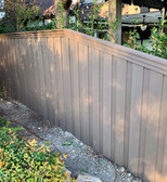 residential custom composite fence desig
