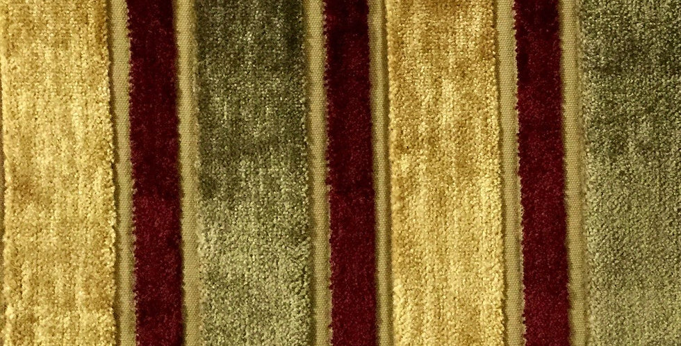 Red - Gold - Chenille Stripe