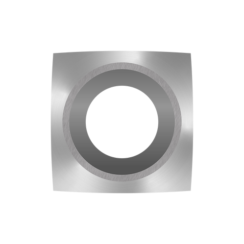 "Ci6 R1 NR Negative Rake Carbide Cutter - 1"" Radius, Pat. No. D902968"