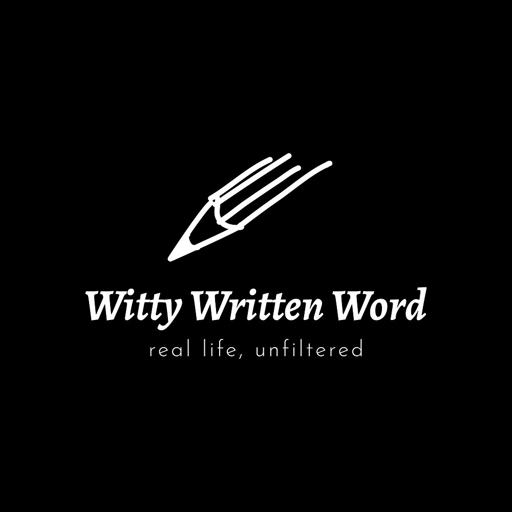 witty written word logo