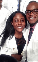 Devon Scott and Samantha Harris is white coats