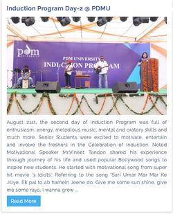 Session at PDM University