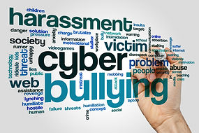 Cyber bullying concept word cloud backgr