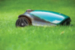 TurfBot robotic mower on grass