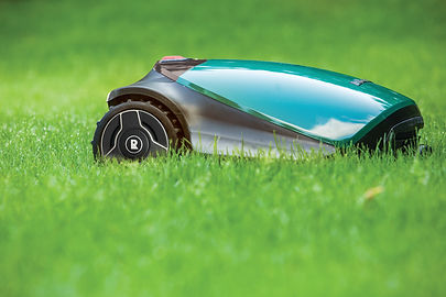 TurfBot robotic mower on grass