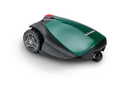 TurfBot robotic mower side view