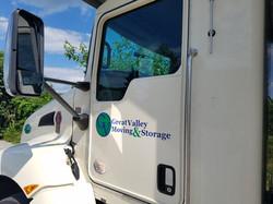 Moving truck door