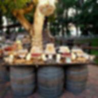 rustic-barn-wedding-barrels