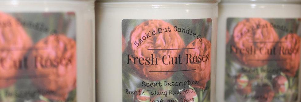 Fresh Cut Rose Candle
