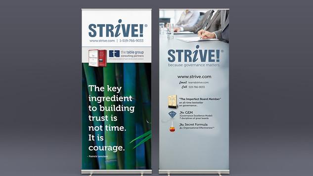 STRIVE! Bannerstand Designs