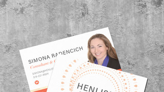 Henlise Consulting Business Card Design