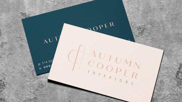 Autumn Cooper Interiors Business Card Design