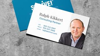 STRIVE! Business Card Design
