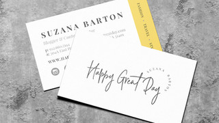 Happy Great Day Logo & Business Card Design