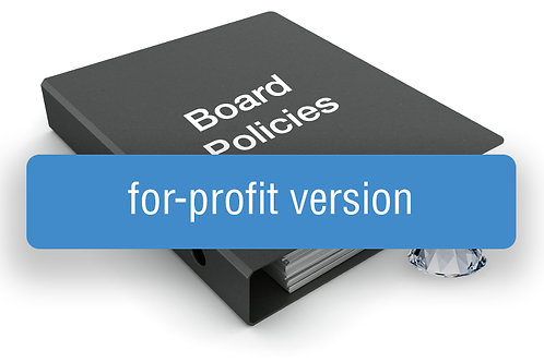 Board Policy Template (For-Profit Version)