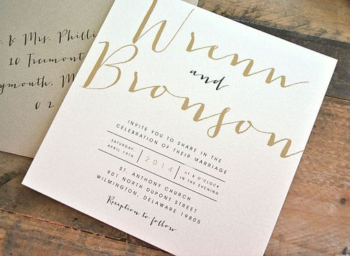Deluxe 152mm x 152mm Wedding Invites