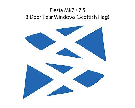 Mk7 Fiesta Scottish Flag Window Vinyl Decal