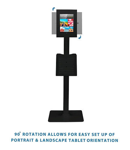 Anti Theft Secure Floor Standing Kiosk Stand Holder Mount for iPad