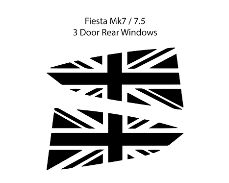 Mk7 Fiesta Union Jack Window Vinyl