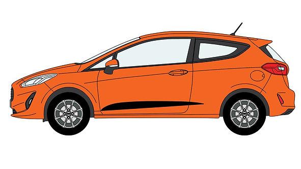 Fiesta Mk8 Middle Side Stripe Decal Set (3 Door Only)