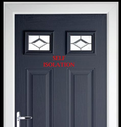 Self Isolation Front Door Sticker