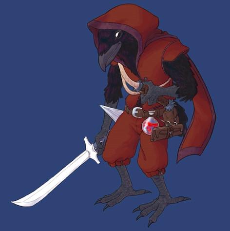 D&D Player Character - Tengu Rogue