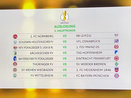 Hauptrunde des DFB-Pokals ausgelost