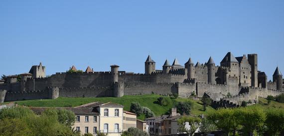 Castelo e as muralhas de Carcassonne