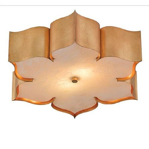 Gold Modern Lotus Flush Ceiling Light|Antique Gold Finish|Flush Lights