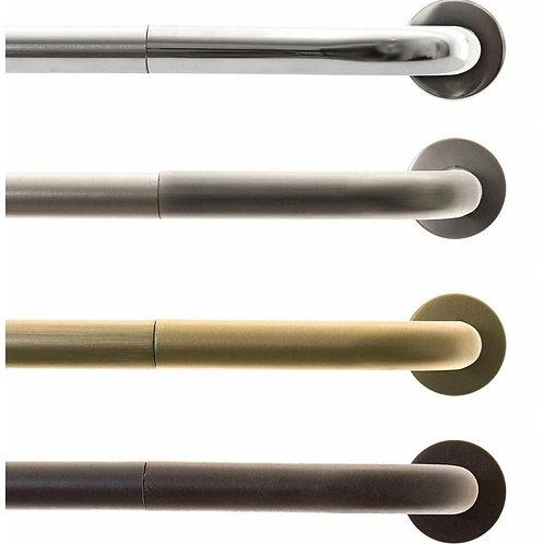 "Metal Curved Bent Rod Set, 1"" Diameter Rod, 4 colors, 3 lengths"
