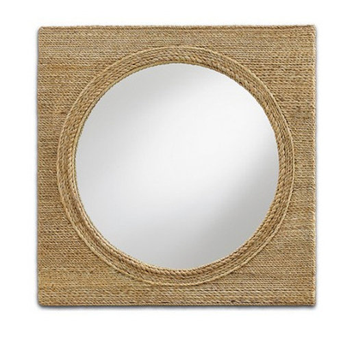 Rope Covered Square Mirror|Nautical Mirror|Beach Wall Mirror in Rope