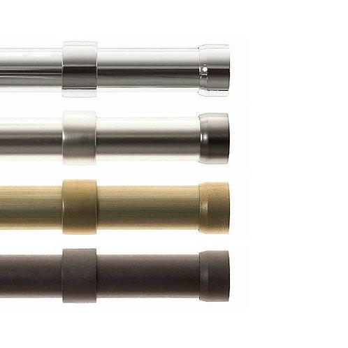 "Metal Drapery Rod Set 1 1/2"" diameter with End Caps, Free Quickship"