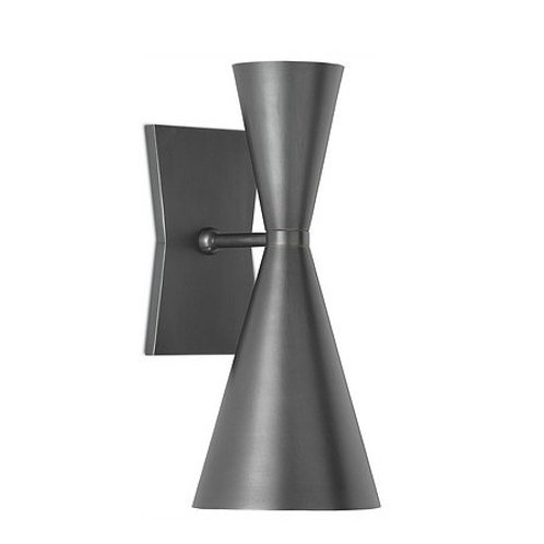 Mid Century Gray Wall Sconce|Gray and White Finish|Modern Cone Sconce