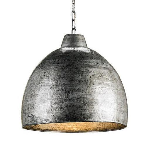 Silver Steel Hammered Iron Pendant|Modern Dining Pendant