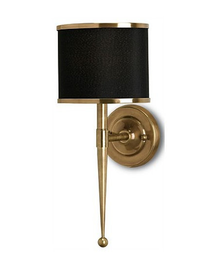 Brass and Black Modern Wall Sconce Black Shaded Sconce Brass Sconce