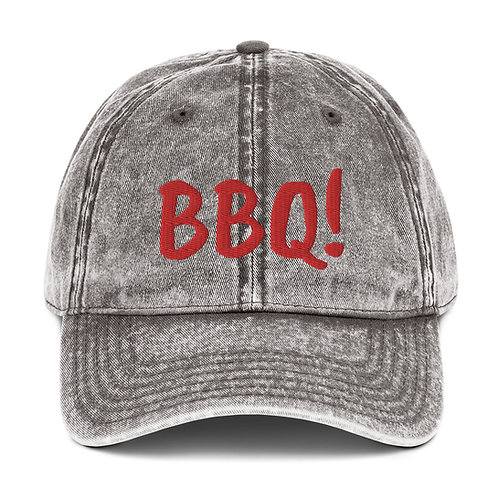 Gifts for Him|BBQ Hat|Vintage Style Hat|Embroidered Hat BBQ|Unisex Gray Hat