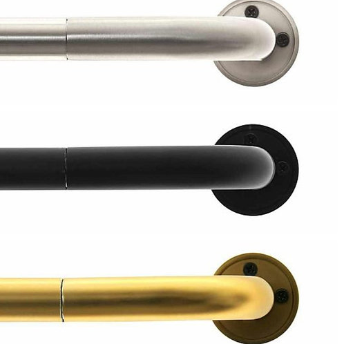 "Curved Bent Drapery Rod Set - Petite 3/4"" Diameter Rods"
