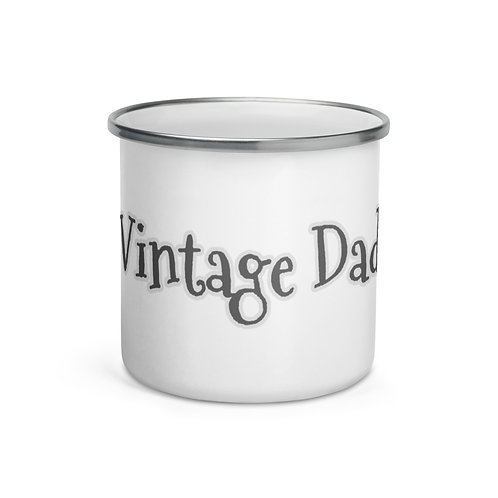 """Enamel """"Vintage Dad"""" Coffee Cup Father's Day Gift Camping and Hiking Coffee Cup """