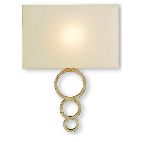 Distressed Silver Modern Wall Sconce|Speckled Silver Finish